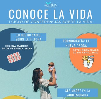 Cartel de las conferencias.