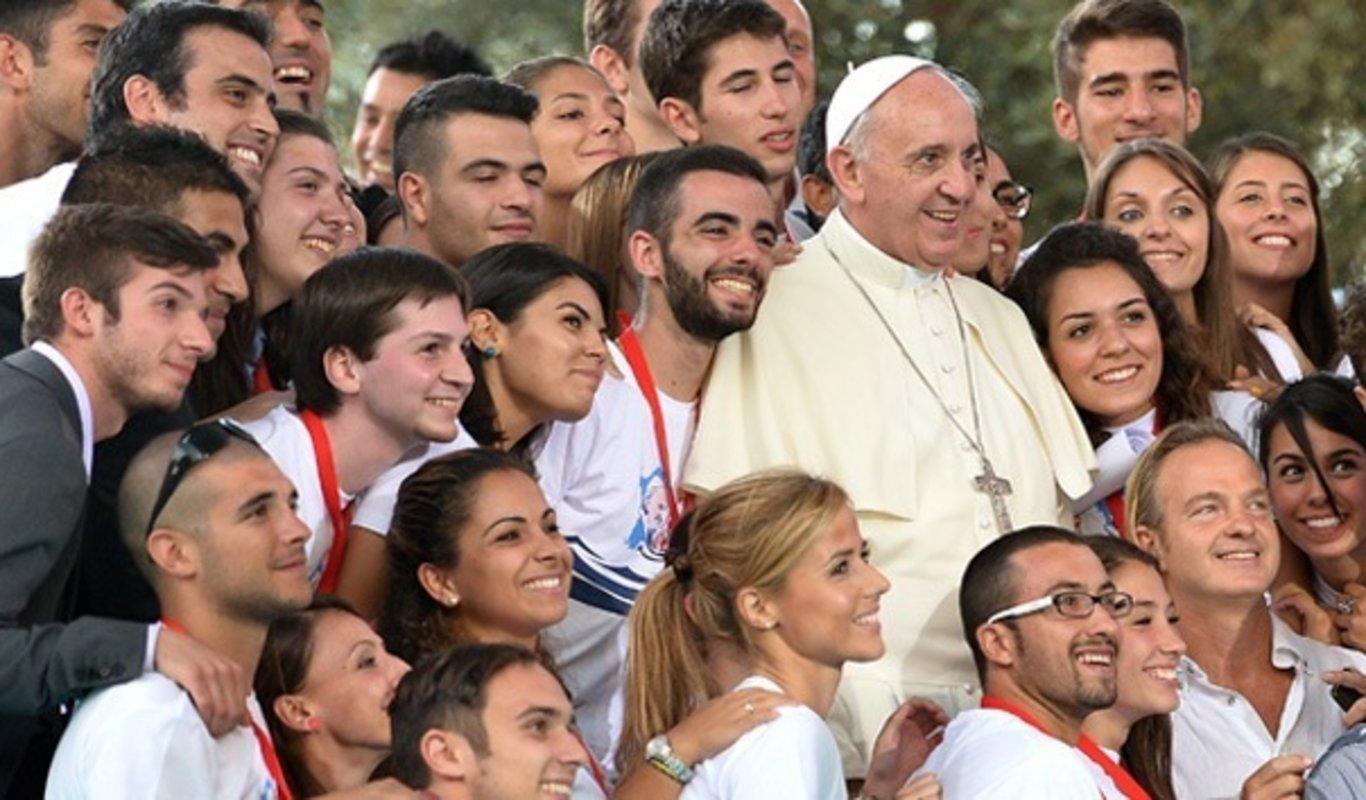 Resultado de imagen de jovenes con el papa
