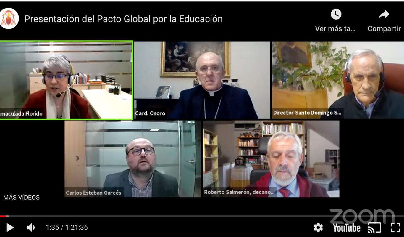 Encuentro Pacto Global por la Educación de la archidiócesis de Madrid.