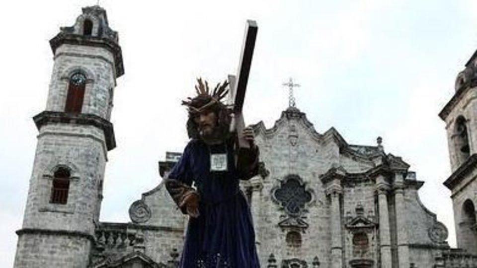 La Pasión de Cristo que se representa en la catedral de La Habana