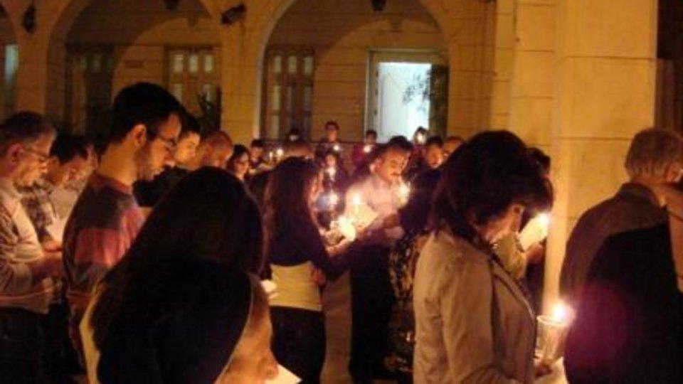 Cristianos en oración en Siria