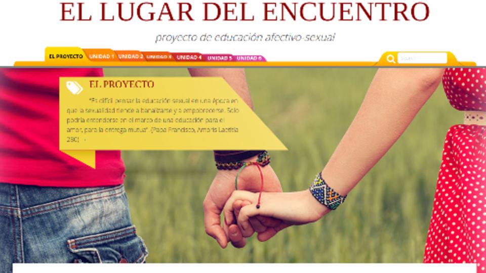 Portada de proyecto de educación afectivo sexual del Vaticano.