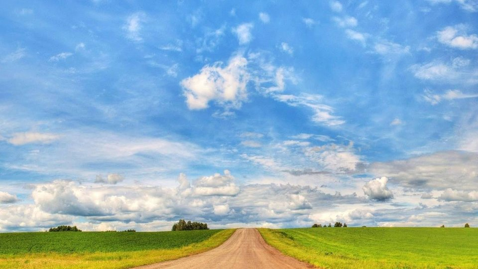 Entre el cielo y la tierra.