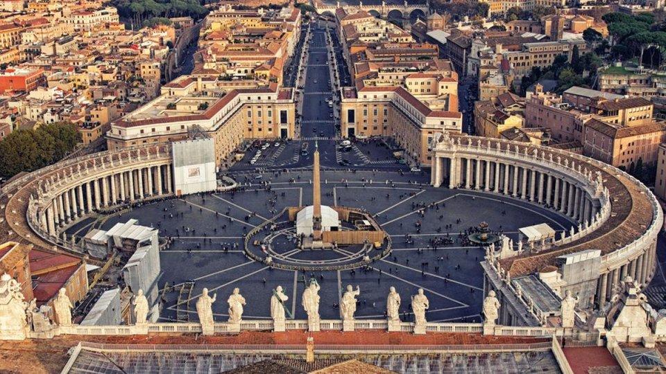 Ciudad del Vaticano aérea.