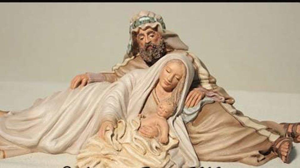 San José con la Virgen y el Niño.