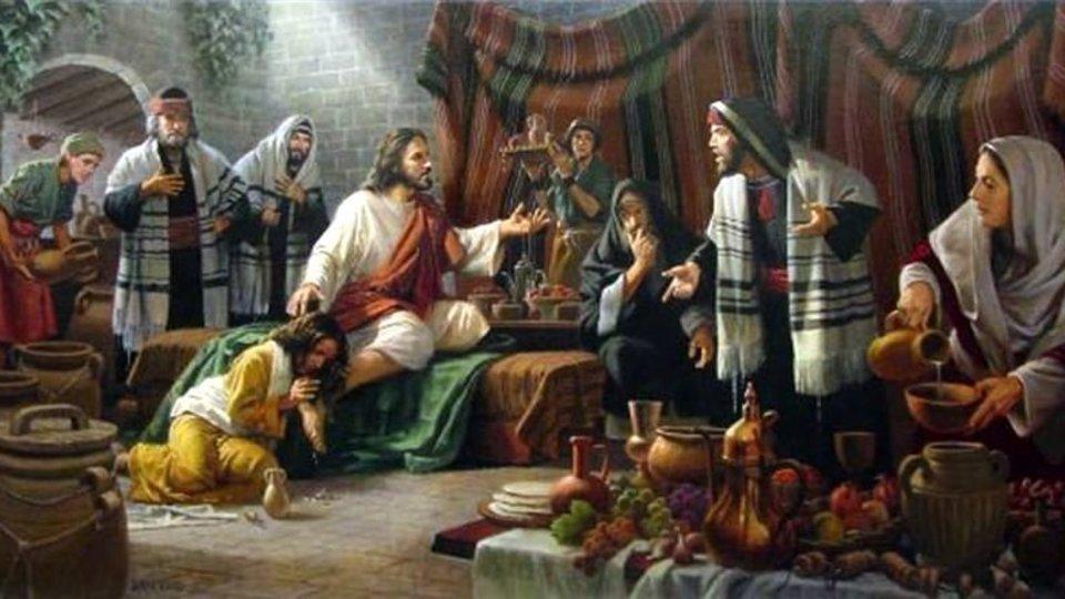 Jesús en Betania.