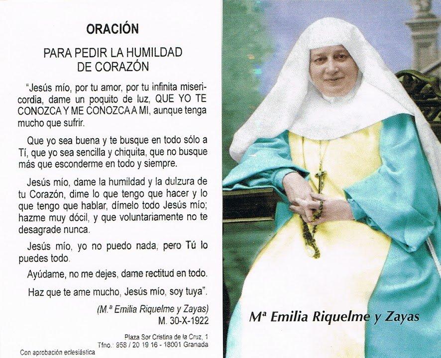 Beatificación de Emilia Riquelme por curar pancreatitis